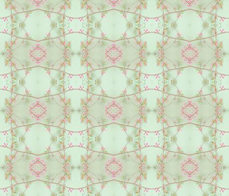 Redbud (Grid Green) fabric by belovedsycamore on Spoonflower - custom fabric