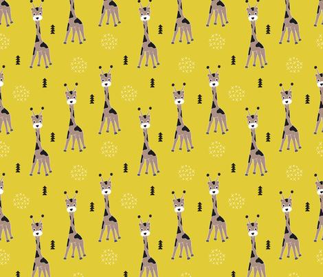 Adorable little baby giraffe cute kids zoo jungle animals for Childrens jungle print fabric