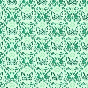 Grumpy Damask - Mint (Small)