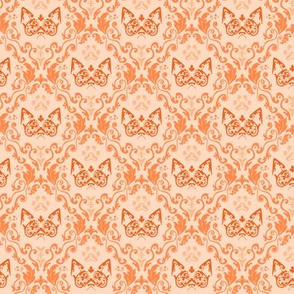 Grumpy Damask - Tangerine (Small)