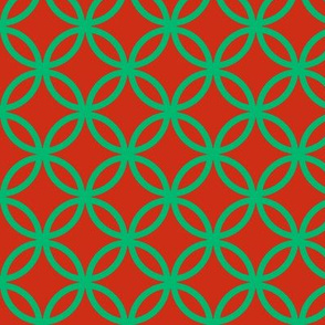 (NOW LARGER) Red and green lattice by Su_G