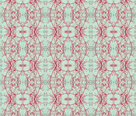Sycamore Lace (Pink & Green) fabric by belovedsycamore on Spoonflower - custom fabric