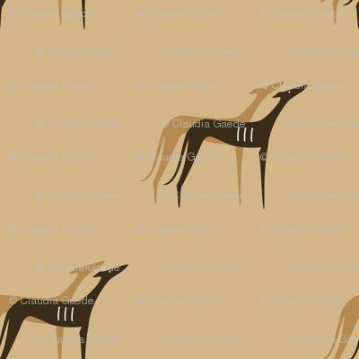 Sighthounds desert colours