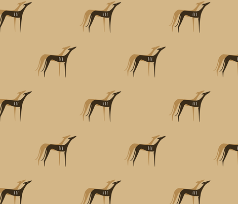 Sighthounds desert colours fabric by lobitos on Spoonflower - custom fabric