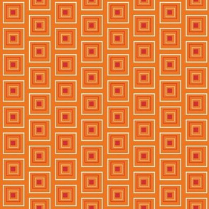 "Large Red & Orange 3/4"" Squares"