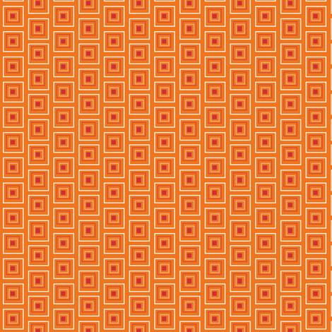 "Small Red & Orange 1/2"" squares fabric by j-andrew on Spoonflower - custom fabric"