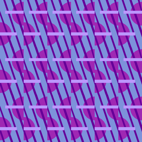 Candy Clouds in Violet fabric by mischiefmuseum on Spoonflower - custom fabric