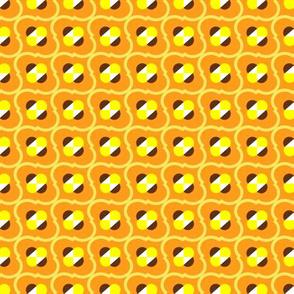 Bumblebee Field in Plush Orange