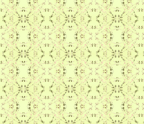 Wild Cherry & Buttercups (Yellow) fabric by belovedsycamore on Spoonflower - custom fabric