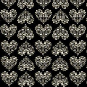 Diamondhearts gold/black