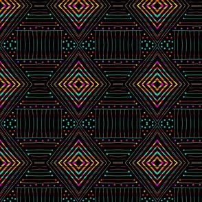 Rainbow southwest diamond pattern