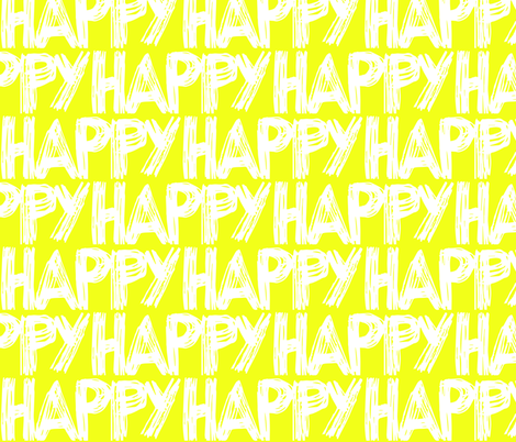 Happy Yellow Sunshine fabric by pennyroyal on Spoonflower - custom fabric