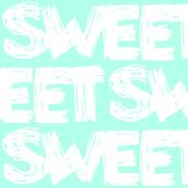 Sweet Sky Blue Scribbles