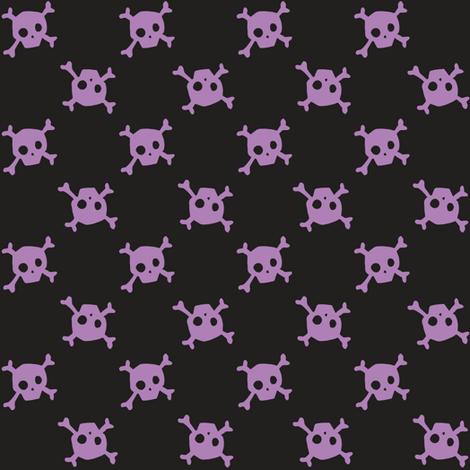 Crossbones - midnight - small fabric by tonia_dee on Spoonflower - custom fabric