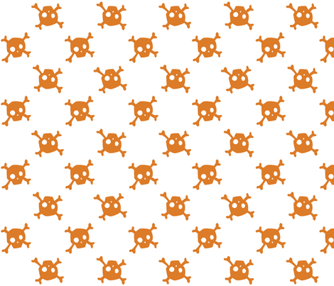 Crossbones - pumpkin - large fabric by tonia_dee on Spoonflower - custom fabric
