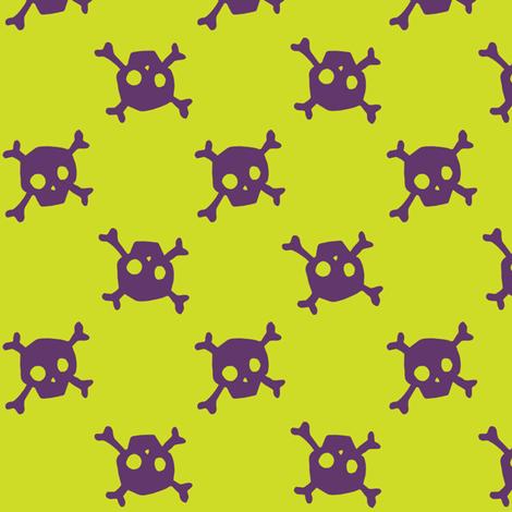 Crossbones - toxic - medium fabric by tonia_dee on Spoonflower - custom fabric
