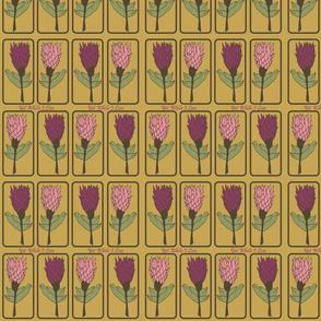 Geometric Pineapple Flowers