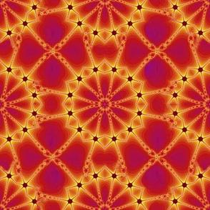 Glittering Solar Chain Web