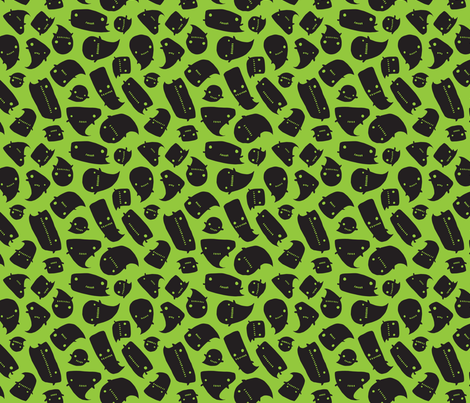 Little Spooks - toxic - small fabric by tonia_dee on Spoonflower - custom fabric