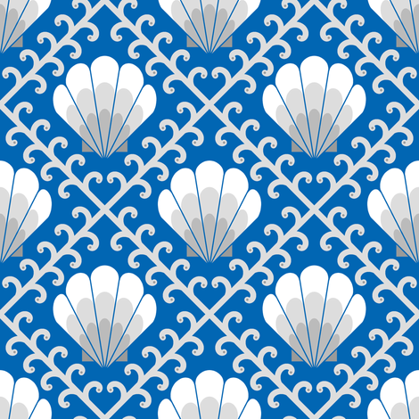 04557981 : custom slot : shell weed fabric by sef on Spoonflower - custom fabric
