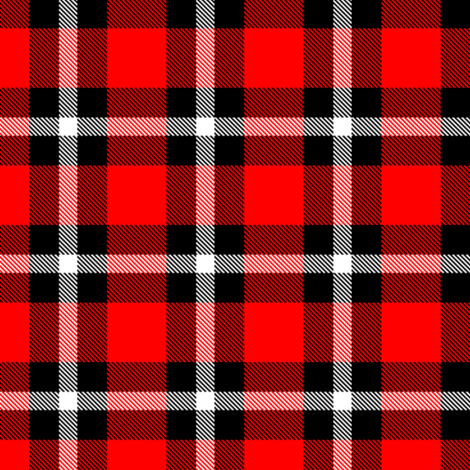 Classic lumberjack, thin white stripe by Su_G fabric by su_g on Spoonflower - custom fabric