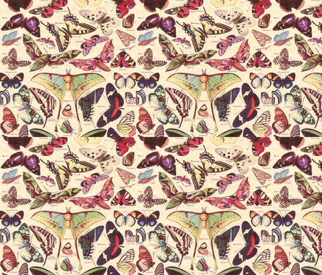 Butterflies fabric by aftermyart on Spoonflower - custom fabric