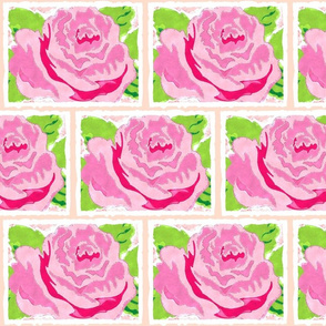 watercolor Rose Quilt MED - petal-