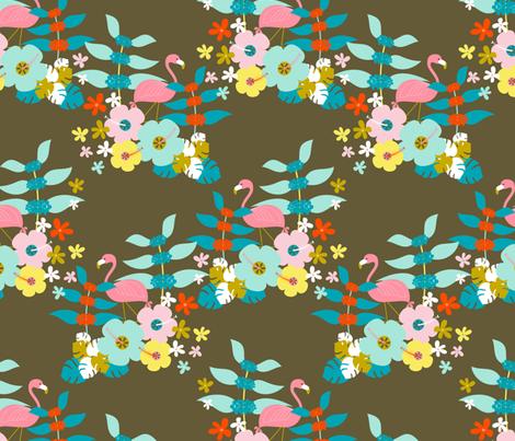 Pink Flamingo fabric by zesti on Spoonflower - custom fabric