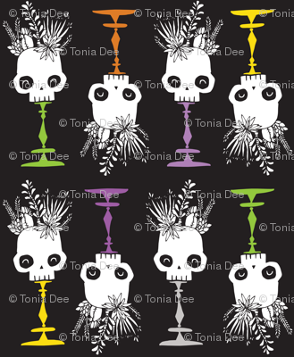 Tidy Skulls - midnight - medium