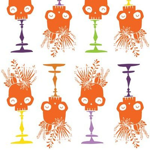 Tidy Skulls - pumpkin