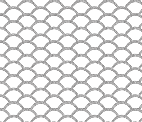 Scallop Faux Silver Glitter Effect fabric by pearl&phire on Spoonflower - custom fabric