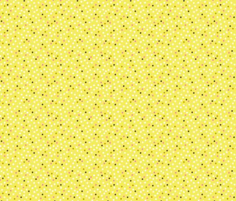 Pink Flamingo Polka Dots fabric by zesti on Spoonflower - custom fabric