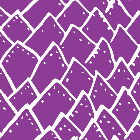 Reptile Spikes fabric by tonia_dee on Spoonflower - custom fabric
