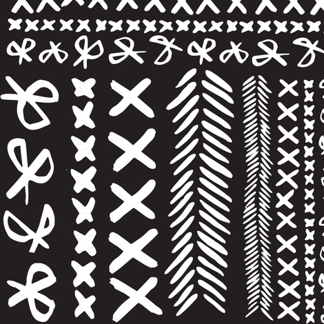 Stitch & Snip - Black and White fabric by tonia_dee on Spoonflower - custom fabric