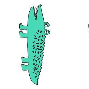 alligator // plush plushie cut and sew green gator cute plushie plush