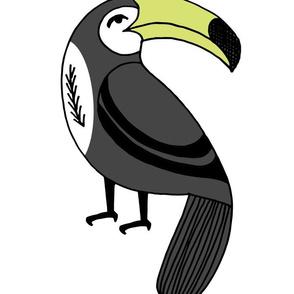 toucan // tropical summer bird kids plush plushie cut and sew cute nursery print