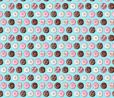 small donut fabric fabric by tictactogs on Spoonflower - custom fabric