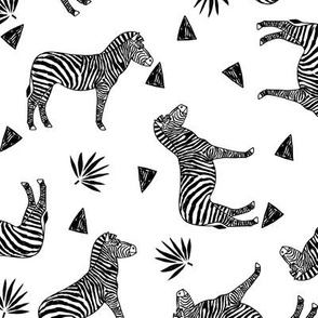 zebra // black and white kids triangle sweet tropical animals