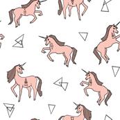 unicorn // unicorns pink and white unicorn cute girls sweet unicorn fabric for girls