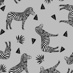 zebra // grey tropical african zoo safari animal black and white grey kids zebra wallpaper