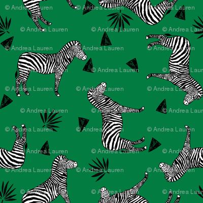 zebra // kelly green safari black and white animal zebra wallpaper