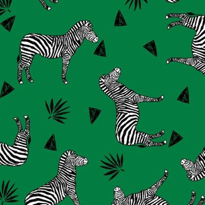 zebra // kelly green safari black and white animal zebra wallpaper