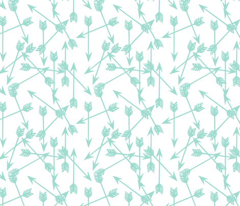 Arrows scattered mint simple nursery print wallpaper for Nursery print fabric