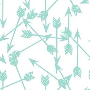 arrows scattered // mint simple nursery print