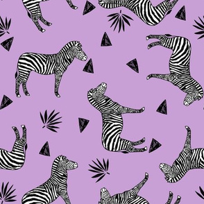 zebra // purple kids safari black and white girls animal africa safari tropical