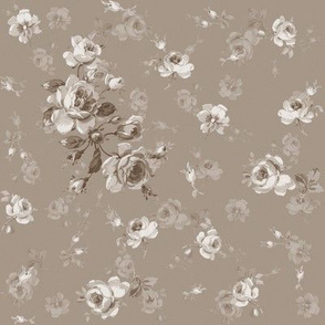 May Roses in Belgian linen