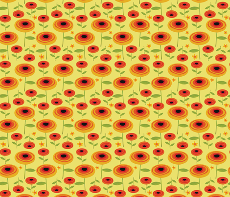Flower Power fabric by allisonbeilkedesigns on Spoonflower - custom fabric