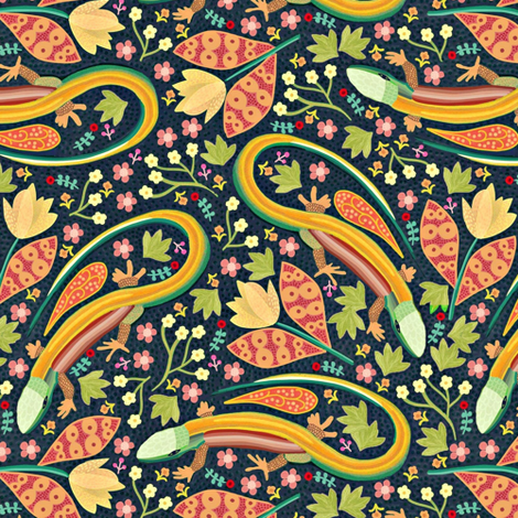 Lizards fabric by susan_polston on Spoonflower - custom fabric