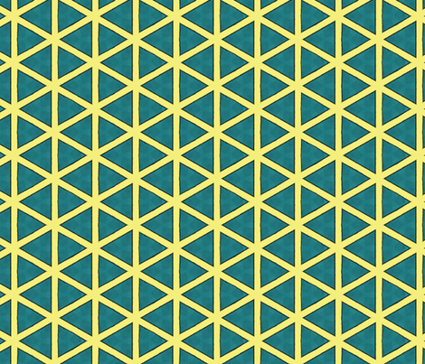 Dream Of the Rarebit Fiend ~ Dreaming Triangles fabric by peacoquettedesigns on Spoonflower - custom fabric
