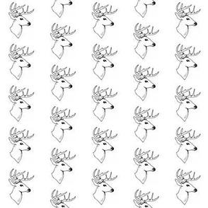 Rustic Deer Head in Black and White